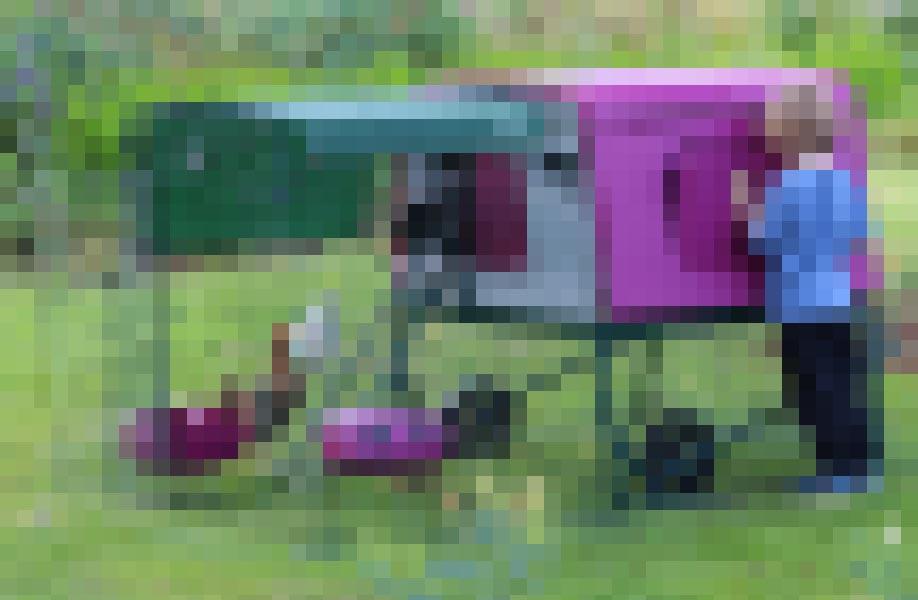Pixelbild vom neuen Hühnerstall