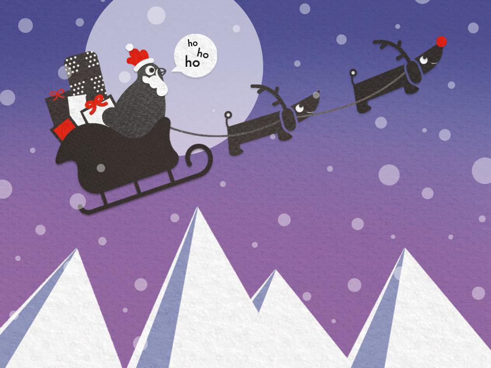Barbara als Weihnachtsmann Comic